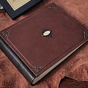 Фотоальбомы ручной работы. Ярмарка Мастеров - ручная работа Большой кожаный фотоальбом «Гардиан» 30х35 см. Handmade.
