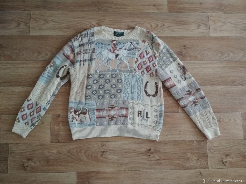 Винтаж: Винтажный коллекционный свитер  Ralph Lauren, Одежда винтажная, Оренбург,  Фото №1