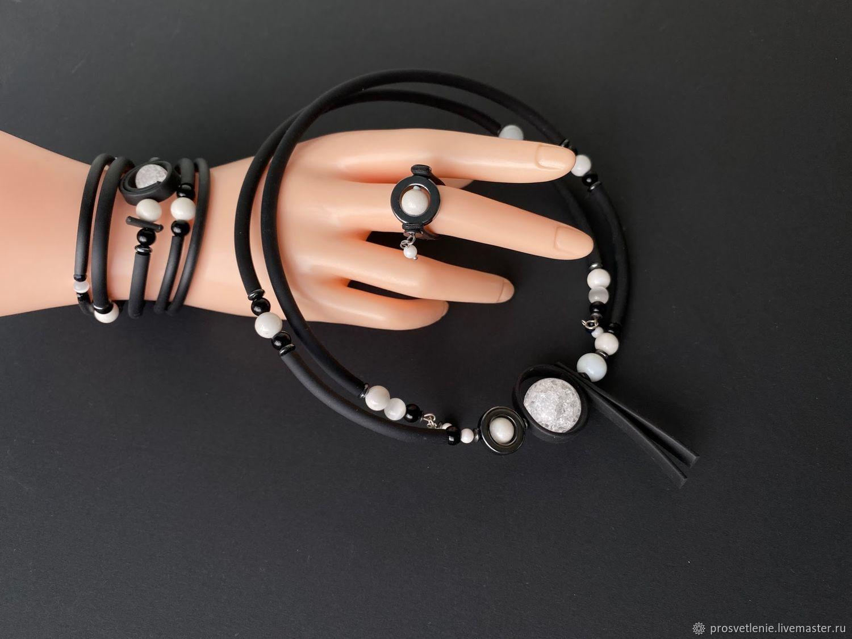 Jewelry sets: modern jewelry with rubber. geometry, Jewelry Sets, Voronezh,  Фото №1
