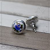 handmade. Livemaster - original item Stud earrings