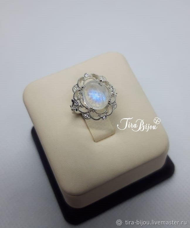 Ring: Silver ring with moonstone (adulyar), Rings, Moscow,  Фото №1