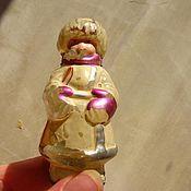 Винтаж ручной работы. Ярмарка Мастеров - ручная работа Старинная елочная игрушка Девочка для реставрации. Handmade.