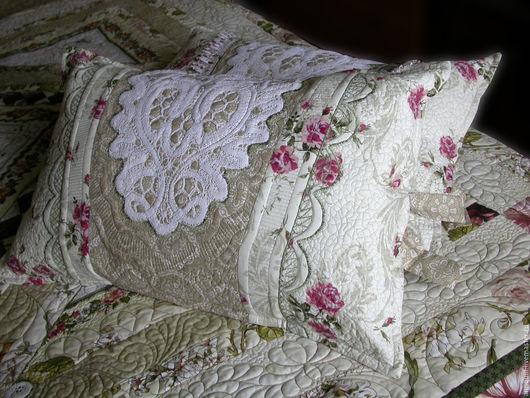 Текстиль, ковры ручной работы. Ярмарка Мастеров - ручная работа. Купить Кружева и шебби шик подушки комплект. Handmade.
