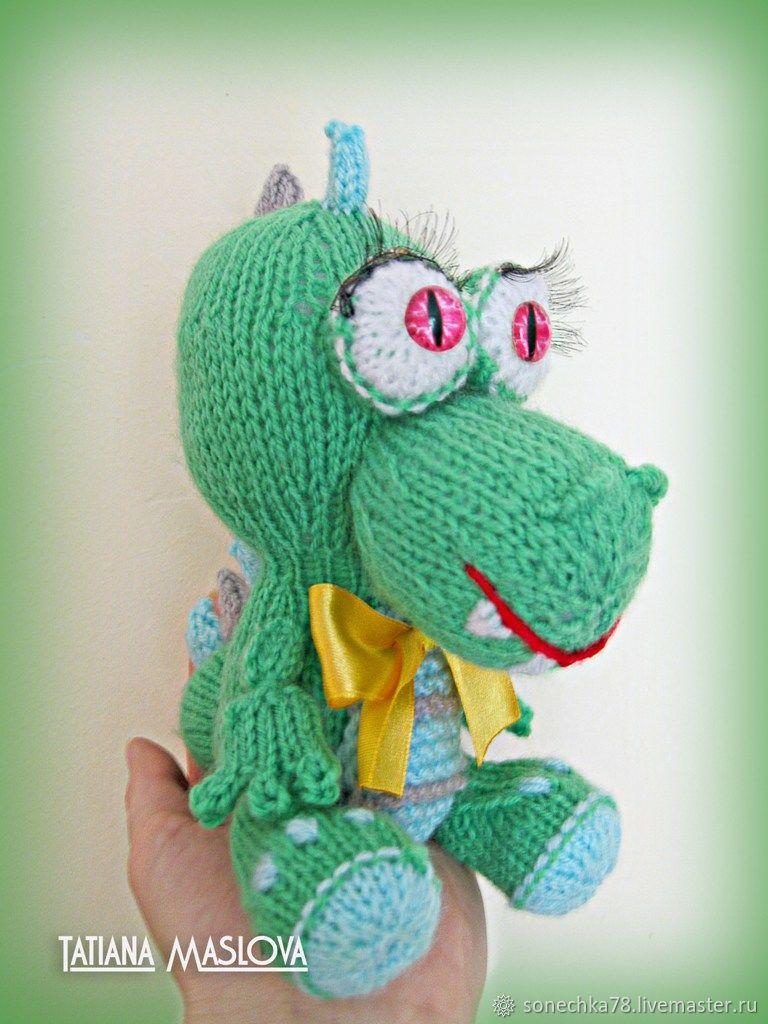 дракончик игрушка вязаная купить в интернет магазине на ярмарке