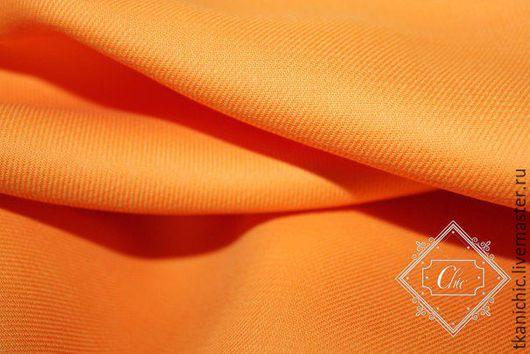 Шитье ручной работы. Ярмарка Мастеров - ручная работа. Купить ткань Хлопок  цв 2. Handmade. Оранжевый, итальянская ткань