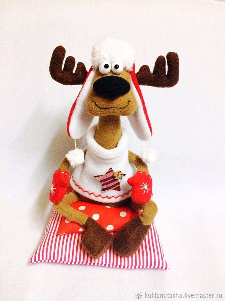 Новогодний олень, Мягкие игрушки, Майкоп,  Фото №1