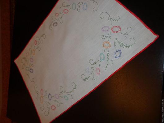 Винтажные предметы интерьера. Ярмарка Мастеров - ручная работа. Купить Салфетка Вышитый узор. Handmade. Разноцветный, германия, орнамент