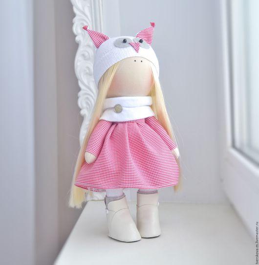 Коллекционные куклы ручной работы. Ярмарка Мастеров - ручная работа. Купить Интерьерная кукла. Handmade. Ярко-красный, кукла Тильда
