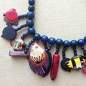"Украшения handmade. Livemaster - original item Wooden necklace ""Tropical sea"". Handmade."