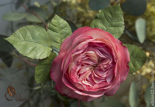 Цветы ручной работы. Ярмарка Мастеров - ручная работа. Купить Английские пионовидные розы из фоамирана. Handmade. Розовый, розы