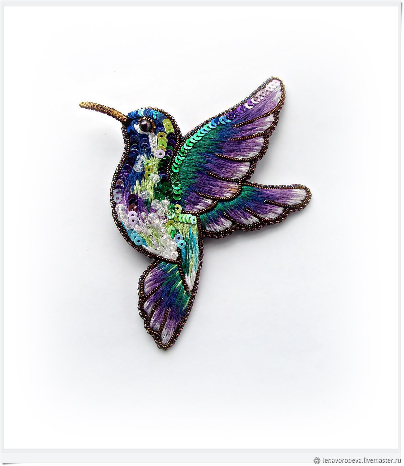 Brooch 'Bird of happiness', Brooches, Voronezh,  Фото №1