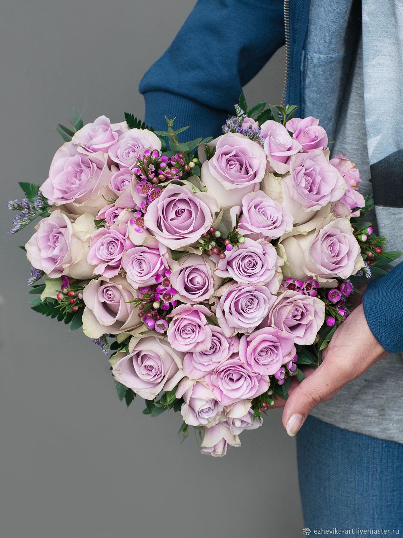 Пионы, букеты невесты в форме сердца