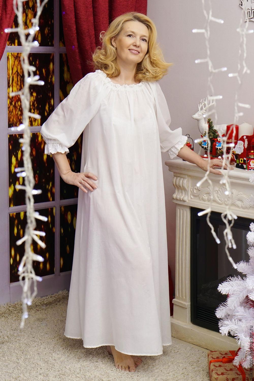 5a427a09161f Ночная сорочка рубашка из батиста, сорочка Оленька – купить в  интернет-магазине ...