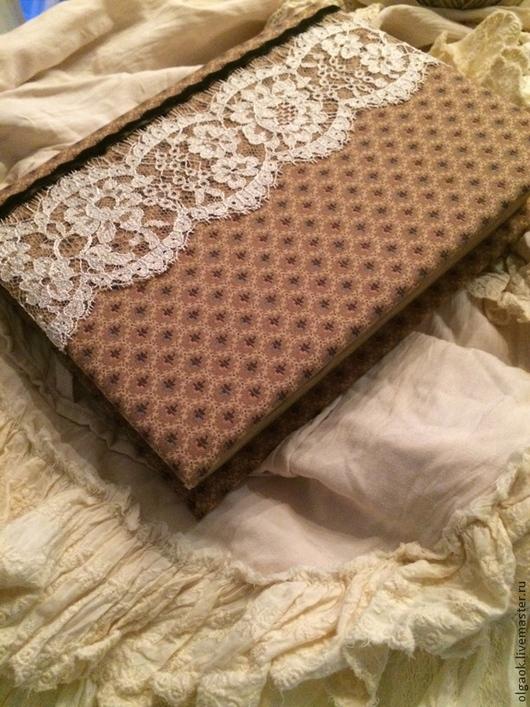 """Блокноты ручной работы. Ярмарка Мастеров - ручная работа. Купить Блокнот """"Alizabeth"""". Handmade. Коричневый, блокнот для записей, кружево"""