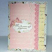 Открытки ручной работы. Ярмарка Мастеров - ручная работа Розовая открытка для девушки. Handmade.
