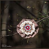 """Украшения ручной работы. Ярмарка Мастеров - ручная работа Брошь текстильная """"Весенний цветок"""" №1. Handmade."""