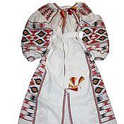 Одежда ручной работы. Ярмарка Мастеров - ручная работа Вышитое платье. Вышиванка. Макси платье. Хиджаб. Handmade.