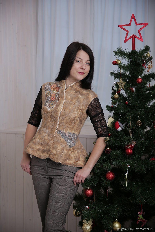 Felted vest 'Dried flowers', Klimkin Galina, Vests, Losino-Petrovsky,  Фото №1