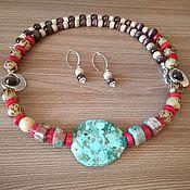 Украшения handmade. Livemaster - original item Jewelry sets: The sea of happiness. Set: necklace earrings. Handmade.
