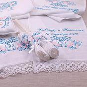 Свадебный салон ручной работы. Ярмарка Мастеров - ручная работа Набор для венчания Таинство в розово-голубой гамме, 8 предметов. Handmade.