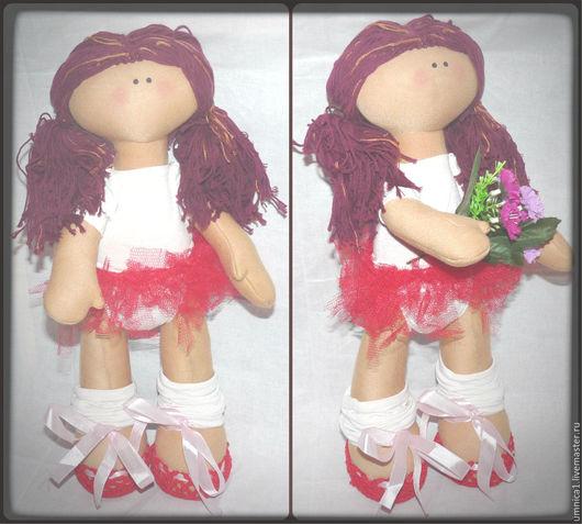 """Куклы тыквоголовки ручной работы. Ярмарка Мастеров - ручная работа. Купить Кукла """"Балерина"""". Handmade. Бежевый, балет, подарок, умница"""