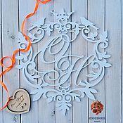 Подарки ручной работы. Ярмарка Мастеров - ручная работа Монограмма свадебная  Герб с инициалами. Handmade.