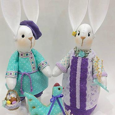 Куклы и игрушки ручной работы. Ярмарка Мастеров - ручная работа Сиренево-бирюзовая композиция.. Handmade.