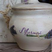 Для дома и интерьера ручной работы. Ярмарка Мастеров - ручная работа горшочек керамический лаванда и беж подарок на 8 марта. Handmade.