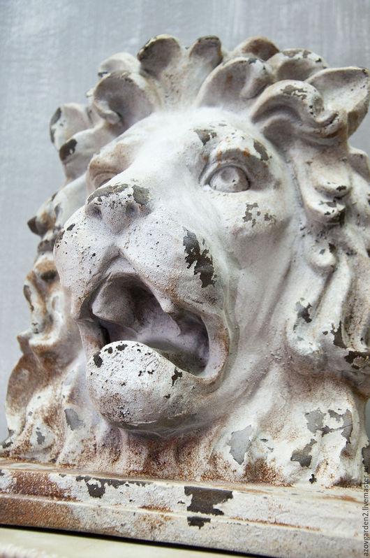 Декупаж и роспись ручной работы. Ярмарка Мастеров - ручная работа. Купить Голова льва в стиле shabby chic шебби-шик, прованс, винтаж. Handmade.