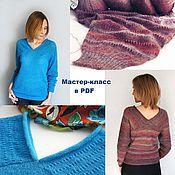 Материалы для творчества handmade. Livemaster - original item Master class on knitting sweaters Caprice. Handmade.