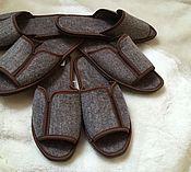 Обувь ручной работы. Ярмарка Мастеров - ручная работа Тапки из войлока мужские с открытым носом. Handmade.