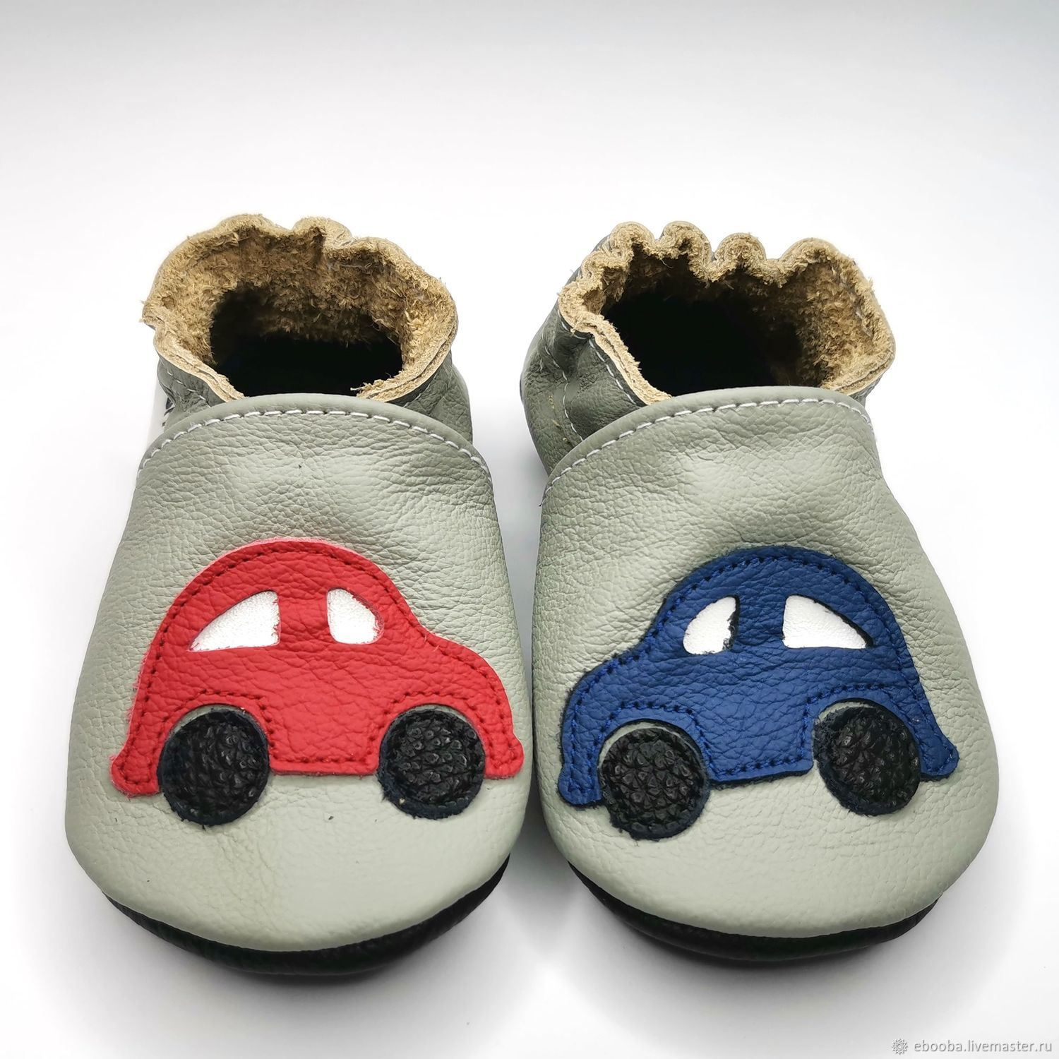 Gray baby shoes, Cars baby shoes, Leather Baby Shoes,Ebooba, Footwear for childrens, Kharkiv,  Фото №1