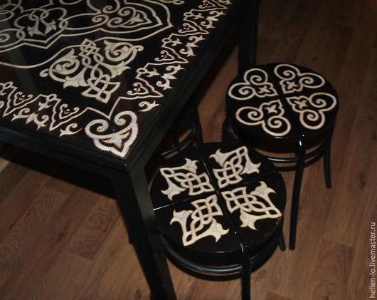 Мебель ручной работы. Ярмарка Мастеров - ручная работа. Купить Роспись табурета. Handmade. Кухня, древнерусский стиль, кухонная мебель