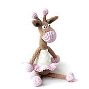 """Куклы и игрушки ручной работы. Ярмарка Мастеров - ручная работа Жираф. Жирафа """"Зефирка"""". Жираф вязаный (жирафы/жирафики).. Handmade."""