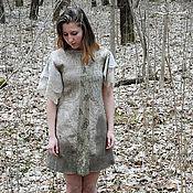 """Одежда ручной работы. Ярмарка Мастеров - ручная работа Валяное платье """"Сухая полынь"""". Handmade."""