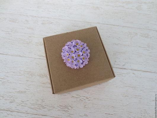Подарочная упаковка ручной работы. Ярмарка Мастеров - ручная работа. Купить Коробка 85x85x35 самосборная, крафт-бумага, коричневая. Handmade.