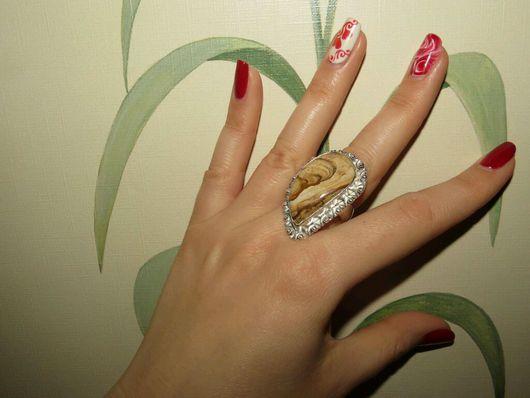 Кольца ручной работы. Ярмарка Мастеров - ручная работа. Купить Кольцо в винтажном стиле из серебра 925 пробы с натуральной яшмой. Handmade.