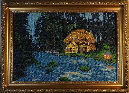 Пейзаж ручной работы. Ярмарка Мастеров - ручная работа. Купить Сказочный лес. Handmade. Разноцветный, лесной пейзаж, сказочный сюжет