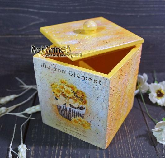 """Кухня ручной работы. Ярмарка Мастеров - ручная работа. Купить Короб """"Лимонный кекс"""". Handmade. Лимонный, хранение в кухне"""