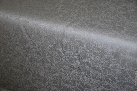 """Шитье ручной работы. Ярмарка Мастеров - ручная работа. Купить Лён-жаккард 100% """"Пионы"""". Handmade. Серый, ткань для полотенец"""