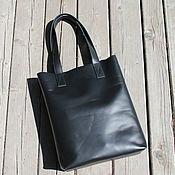 Сумки и аксессуары handmade. Livemaster - original item Bag female leather shopper black(bag leather female). Handmade.