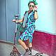 """Платья ручной работы. Ярмарка Мастеров - ручная работа. Купить платье """"Сюзане""""4. Скидка!!!. Handmade. Бирюзовый, восток, хипстер"""
