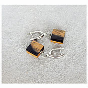 Украшения handmade. Livemaster - original item Rectangular earrings.. Handmade.