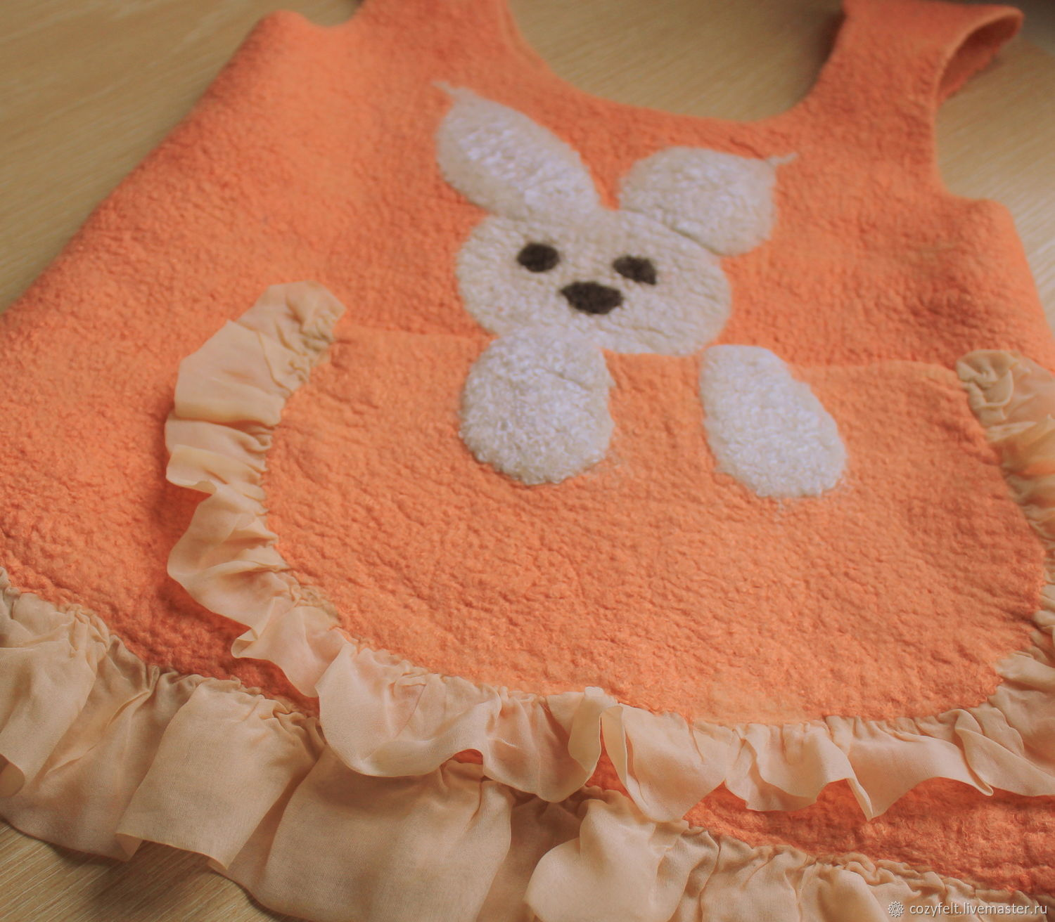 "Sundress for girls "" Bunny in the pocket"""