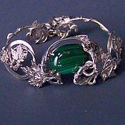Украшения handmade. Livemaster - original item THE WIRE WRAP.The malachite.Bracelet.