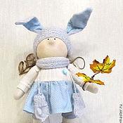Куклы и игрушки ручной работы. Ярмарка Мастеров - ручная работа Кукла Зоя в голубом платье. Handmade.