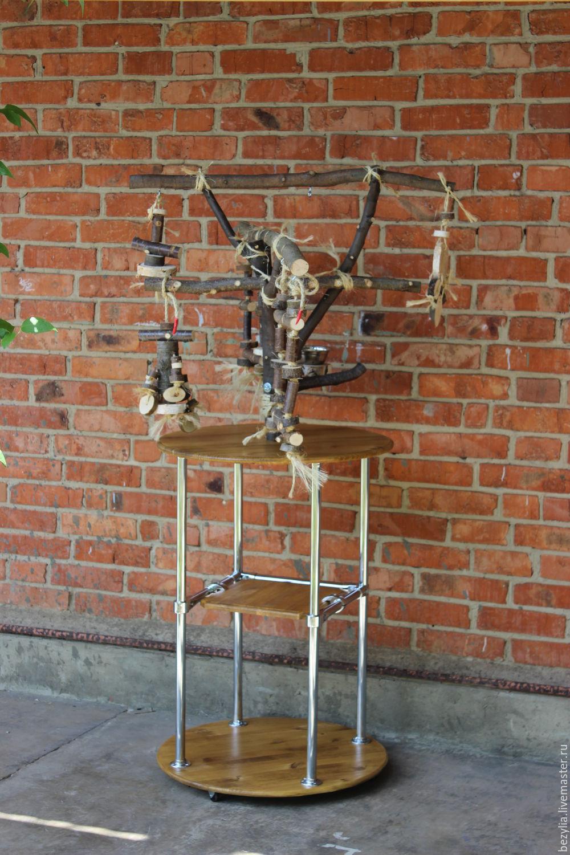 Для других животных, ручной работы. Ярмарка Мастеров - ручная работа. Купить Стенд для попугая БЕНЕДИКТ. Handmade. Бежевый