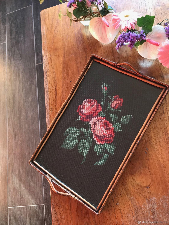 Tray 'Morning fragrance', handmade, Holland, Vintage interior, Arnhem,  Фото №1