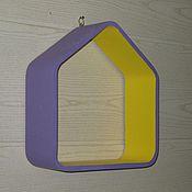 Для дома и интерьера ручной работы. Ярмарка Мастеров - ручная работа Полка домик. Handmade.