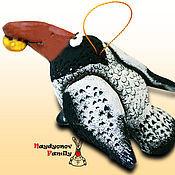 Сувениры и подарки handmade. Livemaster - original item Crow, ceramic bell. Handmade.